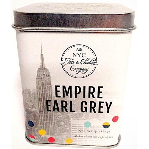 Empire Earl Pearly Loose Leaf Tea Leaves Organic Bergamot Bulk, Collectable Tin 4 Oz