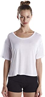 product image for US Blanks Ladies' 4.2 Oz. Boxy Open Neck Top L White