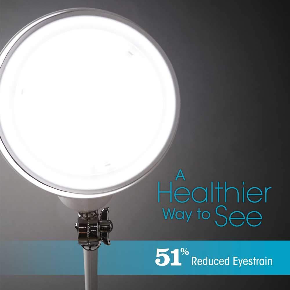 OttLite Revive LED Floor Lamp Touch-Sensitive Control, 3 Brightness Mode, Adjustable, Reduces Eyestrain Great for Office, Home, Dorm, Bedroom, College, Living Room