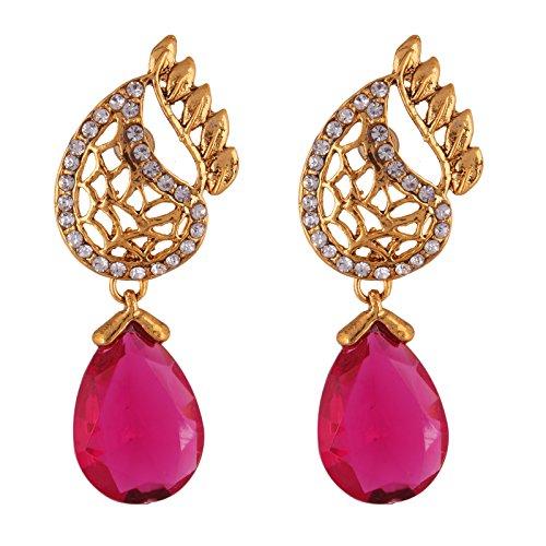 Fasherati Victorian Inspired Pink Jali work Earring For Women
