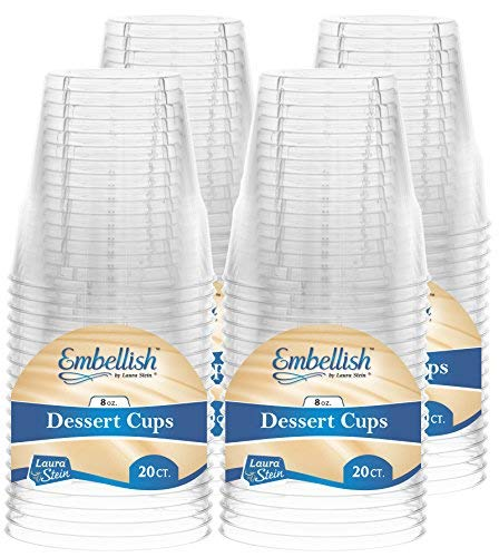 (Embellish Crystal Clear Hard Plastic 8oz Dessert Cups/Tumblers 80 Count)