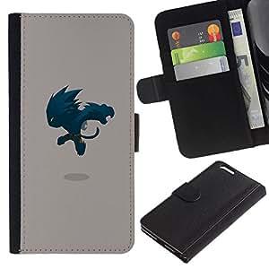 All Phone Most Case / Oferta Especial Cáscara Funda de cuero Monedero Cubierta de proteccion Caso / Wallet Case for Apple Iphone 6 PLUS 5.5 // Jumping Monster
