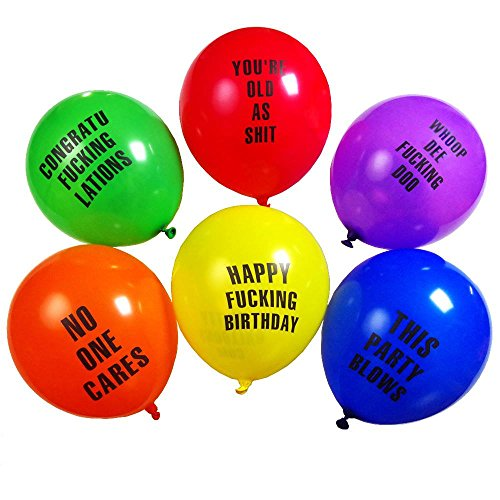 Shitty Abusive Balloons For Your Birthday Party (24 - Usps Shipping 2 3 Day