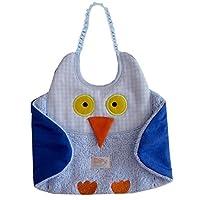 Zigozago - Bib OWL; Tie: Elastic; One Size; Color: Light Blue