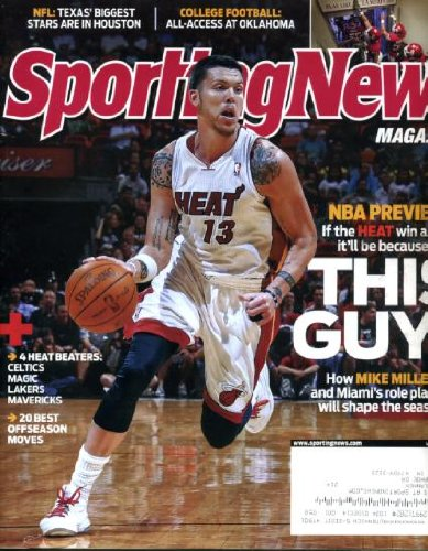 Sporting News October 25 2010 Mike Miller/Miami Heat on Cover, NBA Preview, Oklahoma Sooners Football, Ray Rice/Baltimore - Miller Mike Nba