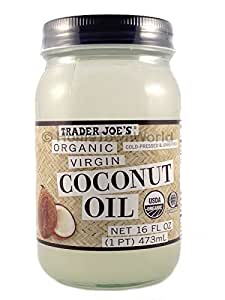 NEW Trader Joe's(16 fl oz) Coconut Certified Organic Extra Virgin Coconut Oil by Trader Joe's