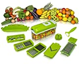 House Of Gifts Genius Nicer and Dicer Plus Multi Chopper Vegetable Cutter Fruit Slicer
