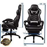 Ellyly Ergonomic Racing Gaming Chair High Back Swivel Leather Footrest Office Desk Seat | Model OFCHAIR-1920448
