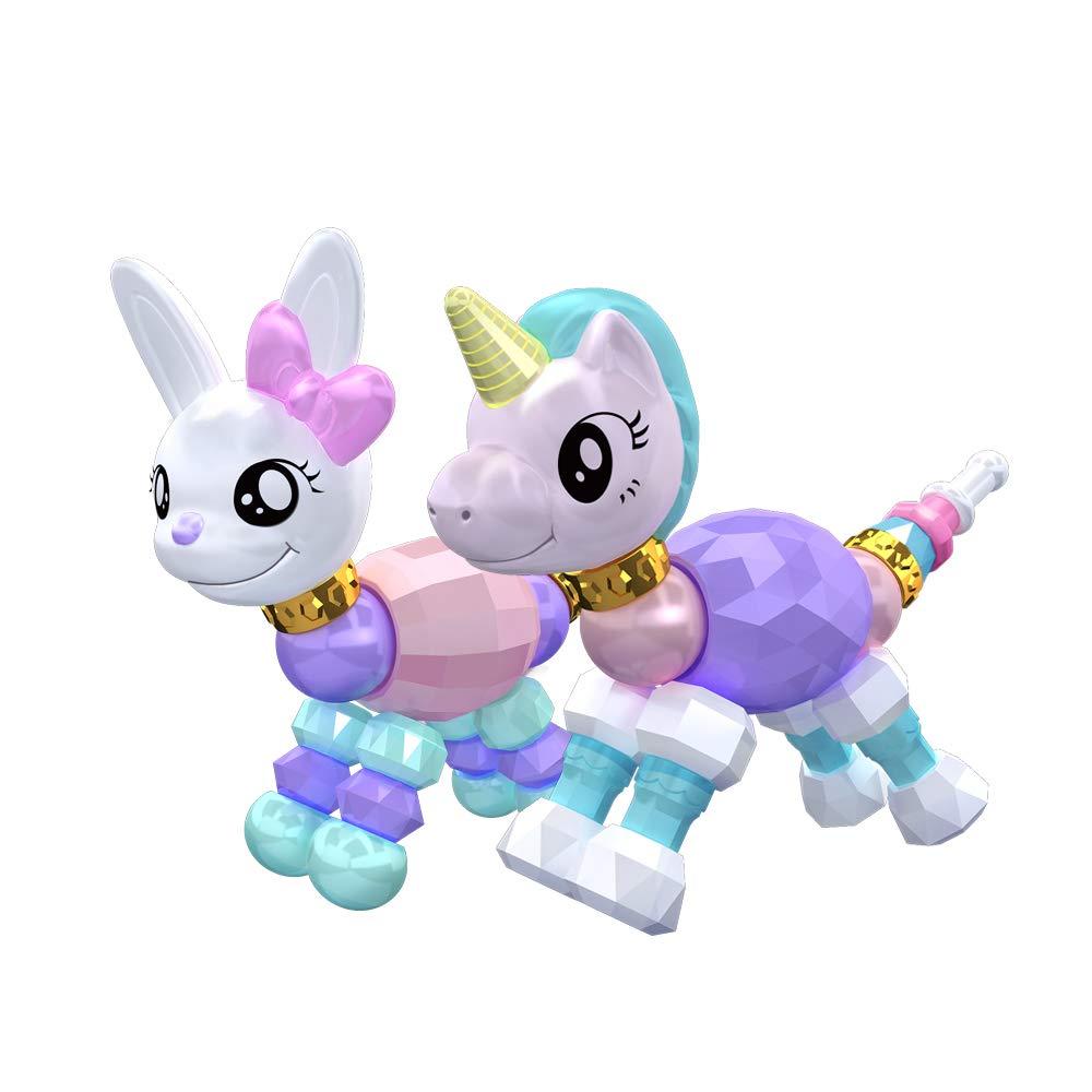 Goolsky 2Pcs Twisted Animal Haustiere Kaninchen Einhorn Sammlerstück Armband Set für Kids Birthday Party Pretend Play Goolsky-1
