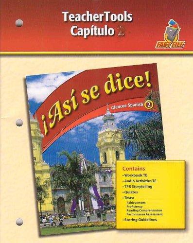 Download Asi se dice! - Capitulo 8 (Glencoe Spanish 2-Fast File) pdf