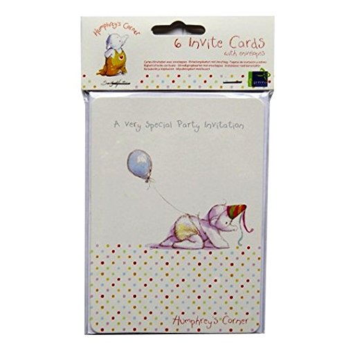 - Humphrey's Corner Party Invitation Cards - 6 Cards and Envelopes - by Sally Hunter
