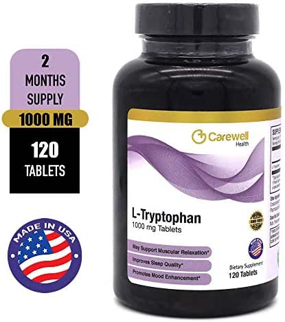 L-Tryptophan 1000 mg Tablets; 120 Tablets