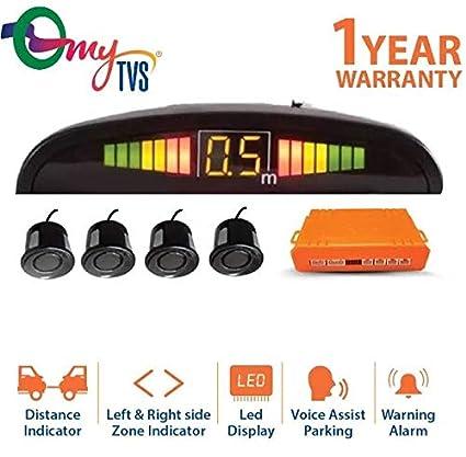 myTVS TPS-38 Reverse Car Parking Sensor LED Display for All Cars (Black)