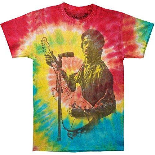 Jimi Hendrix Tie Dye T-shirt (Jimi Hendrix Men's Jimi Rainbow Spiral Tie Dye T-shirt Medium Tie-Dyed)