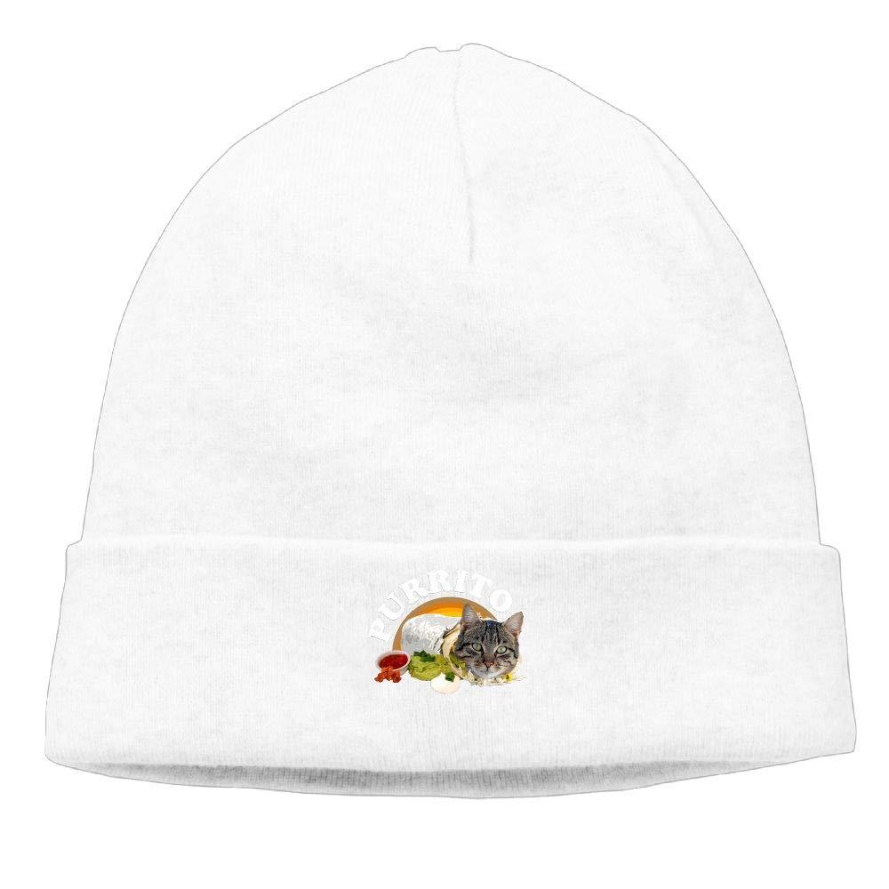 nordic runes Purrito Cat Beanie Hat Winter Warm Knit Skull Cap for Mens//Womens