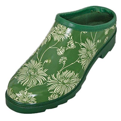 Laura Ashley Femmes/Dames Chaussures Jardinage Sabots Vert Imprimé Floral Avec Semelles Coussinées, Différentes Tailles