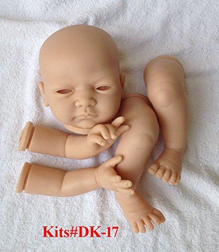 """dk-14 20/"""" Lifelike soft vinyl reborn baby doll kits,soft vinyl like silicone"""