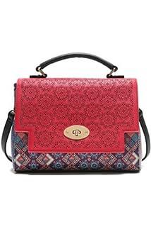 Damen Bols_yale Tricolor. 3000. U Laptop Tasche, Rot (Carmin), 4.6x28.3x30.2 cm Desigual