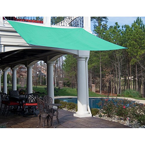 King Canopy PC200101G 10-Feet by 10-Feet Quadrilateral Sun Shade Sail, Green