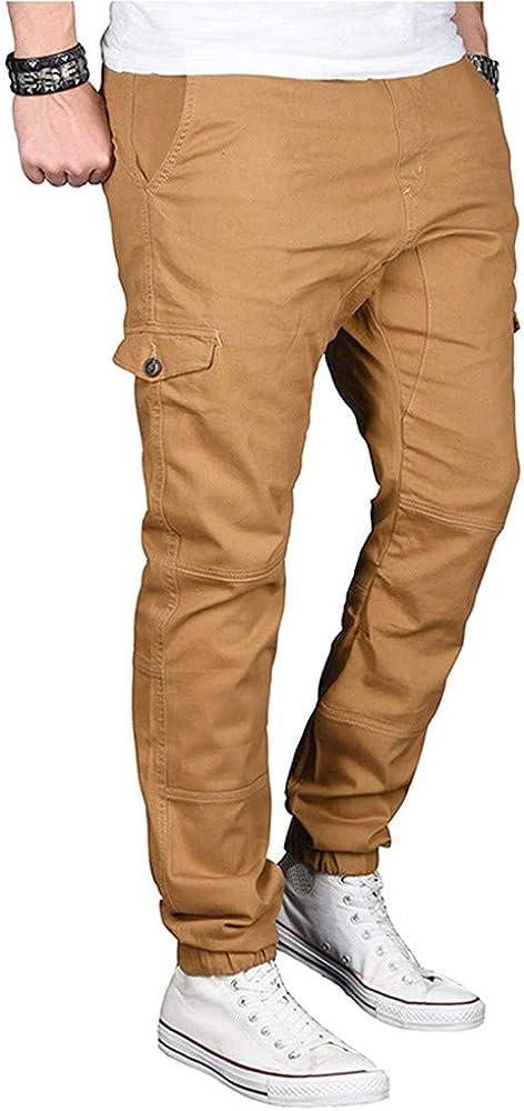 Pantalón Casual Color Sólido Pants Personalidad chándal de ...
