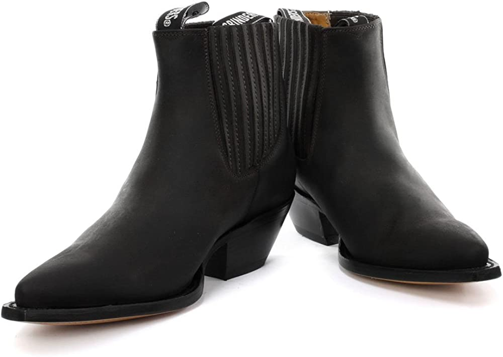 Grinders Stivali donna Nero Oily Full Black