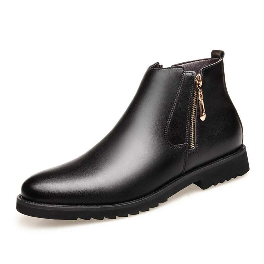 Hy Herrenschuhe, Winter Plus Cashmere Warm Windproof Formelle Schuhe, Geschäft SchuhesComfort Driving Schuhe, Schuhe des mittleren Alters des Vaters (Farbe : Schwarz, Größe : 44)