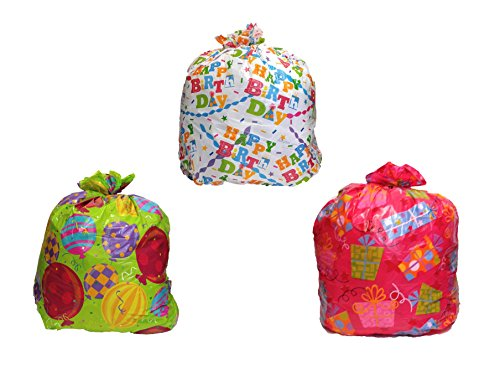 Set of 3 Black Duck Brand Giant Birthday Gift Bags with Yarn Tie and Gift Tag 36