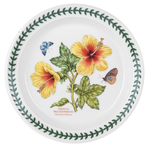 Portmeirion Exotic Botanic Garden Salad Plate with Hibiscus Motif, Set of 6 by Portmeirion