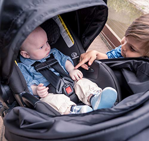 51VV vKWAcL - Britax B-Free Travel System With B-Safe Ultra Infant Car Seat - Birth To 65 Pounds | All Terrain Tires + Adjustable Handlebar + Extra Storage With Front Access + One Hand, Easy Fold, Vibe