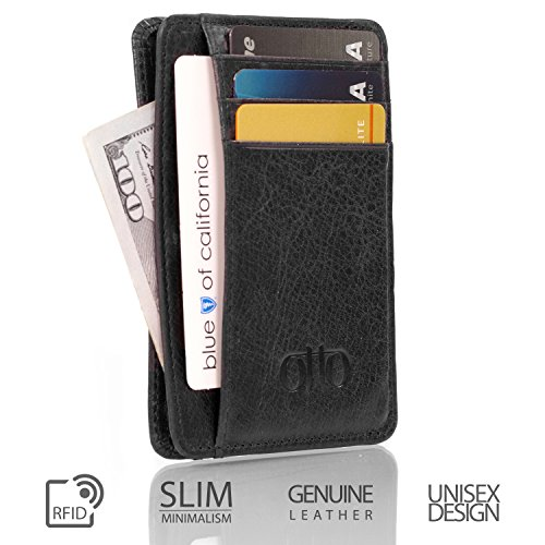 Otto Genuine Leather Wallet |Bank Cards, Money, RFID BLOCKING| - Unisex