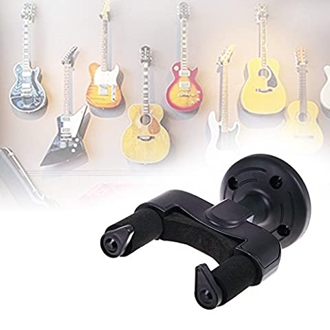 1 Set Electric Guitar Wall Hanger Holder Stand Rack Hook Mount for All Size Guitars Universal String Instruments Wall (Raiders Guitar Picks)