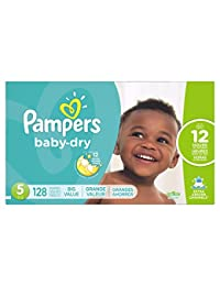 Pampers Baby Dry Diapers, Size 5, 128 Count BOBEBE Online Baby Store From New York to Miami and Los Angeles