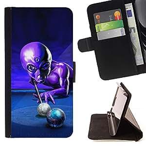 Momo Phone Case / Flip Funda de Cuero Case Cover - Ufo Billar Extranjero control Gris Universo - HTC Desire 626