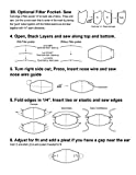 Face mask Plastic Sewing Template Fitted Pattern