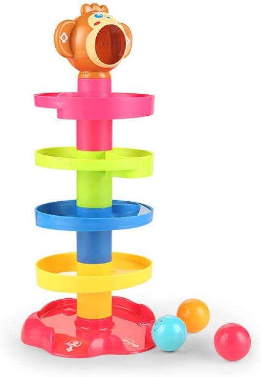 FLHLH Baby Swirl Ball Ramp Ball Drop Toys para, Baby Early Learning Hand Ball Toy, Kids Jenga Rolling Ball (0-5 años), Swirl Ball Ramp Ball Drop Toys: Amazon.es: Hogar