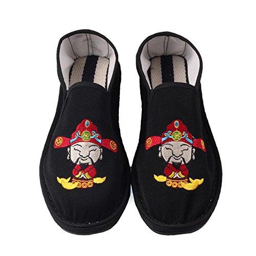 LvYuan Los zapatos tradicionales chinos unisex del paño / retro ocasional respiran los zapatos del bordado / los zapatos de Kung Fu / los artes marciales / deslizan-en los zapatos 1#