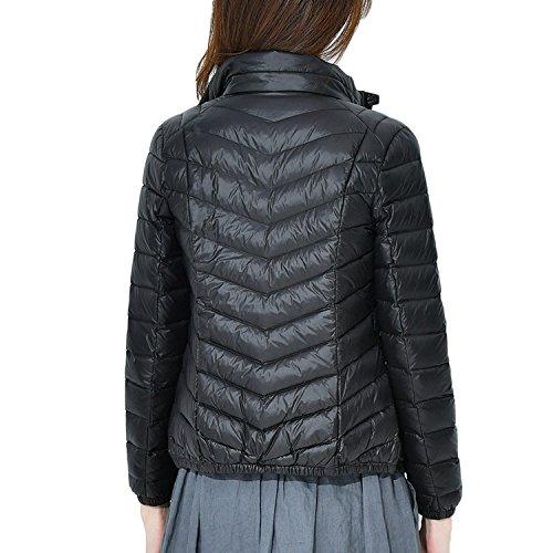 Outwear Bmeigo Ultra Black Piumino Stand Parka Windproof Collar Cappotto Leggeri Donna Giacche fqnxw8zaf