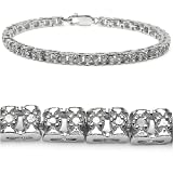 0.80 Carat Genuine White Diamond Sterling Silver Bracelet
