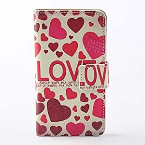 SUMCOM Rose Hearts Pattern PU Full Body Case with Card Slot and PC Back Cover insight for iPhone 4/4S