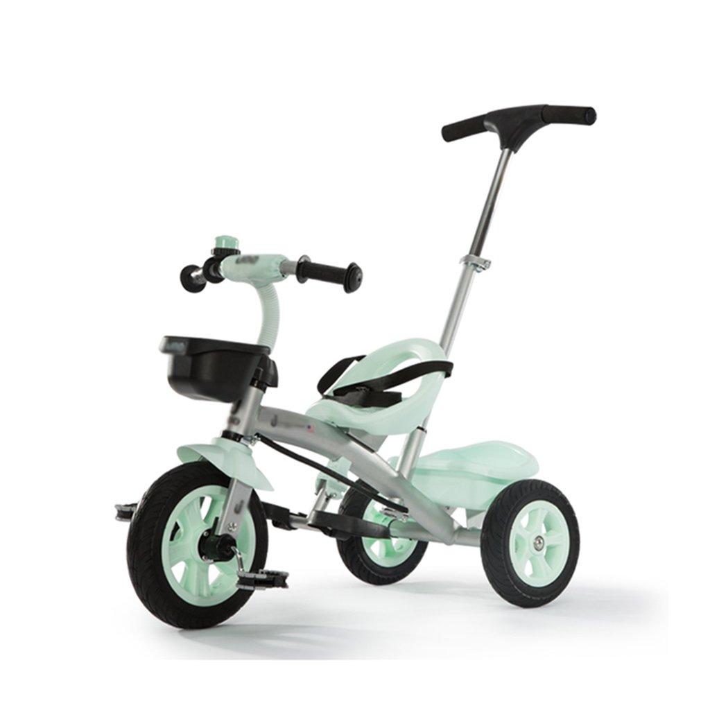 Blau Dreiräder 3C zertifizierte Tragbare Kinder 1-6 Jahre alt Kinderwagen Kinderfahrzeuge (Farbe   Blau)