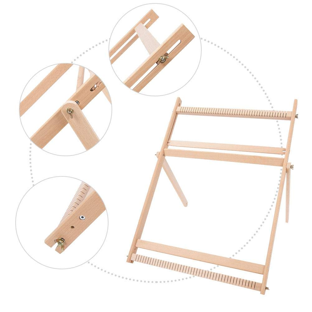 Drawstring Bags 70 X 50 X 3cm Weaving Machine Cup Holders Adjustable Weaving Frame Solid Wood Blanket Scarf DIY Loom Sewing Machine For Handkerchiefs
