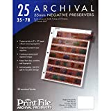 Photo : Archival Storage Sheets 35-7B25 for 35mm Film Negatives 7 Strips 25 Pack