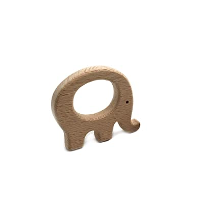 1pc natural de madera del bebé Mordedor Juguetes Grasa animal elefante de juguete Molar FineDevelopment y sensoriales Habilidades juguete perfecto regalo de la ducha Accesorio y Decoración: Juguetes y juegos