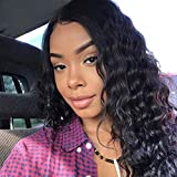9A Deep Wave Lace Front Wig (20 inch) Peruvian Remy Virgin Human Hair Wigs with Baby Hair For Black Women Lace Frontal Wig