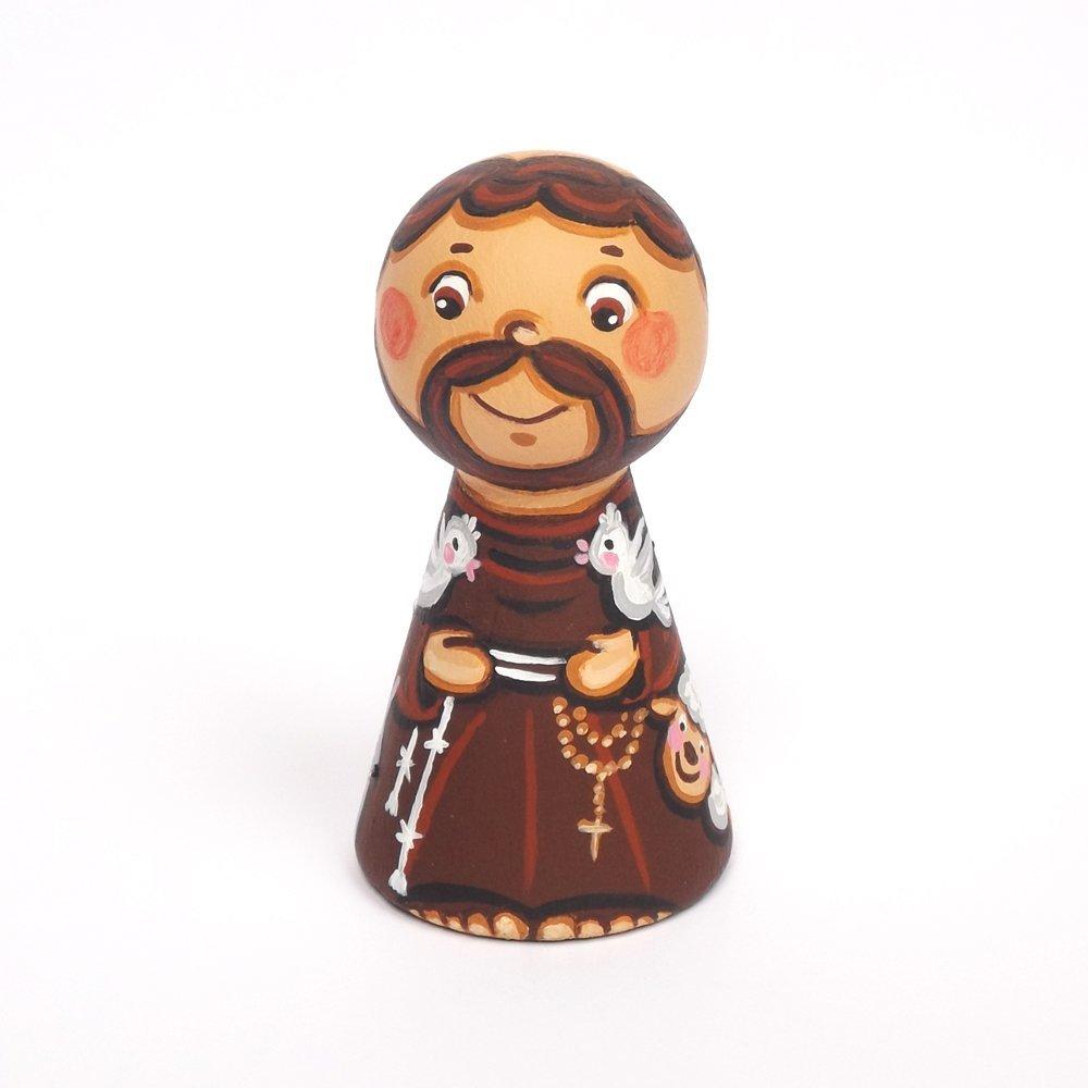 Saint Francis of Assisi doll Saint Francis figurine Catholic saint doll Patron saint peg doll Girl christening gift Saint Francis figure Saint Francis statue Baptism gift Saint figurine Animal lover