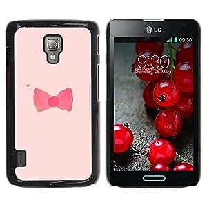 TopCaseStore / la caja del caucho duro de la cubierta de protección de la piel - Pink Red Fashion Design - LG Optimus L7 II P710 / L7X P714