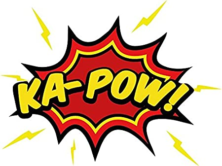Ka pow speech bubble comic book car bumper sticker decal 12 x 10 cm