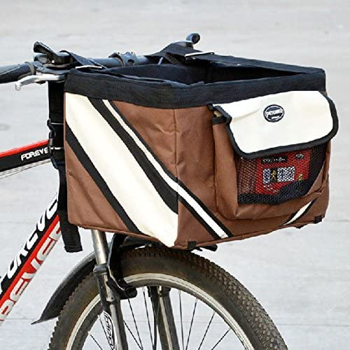 Cesta de bicicleta Olayer con bolsillos, para perro de pequeño ...