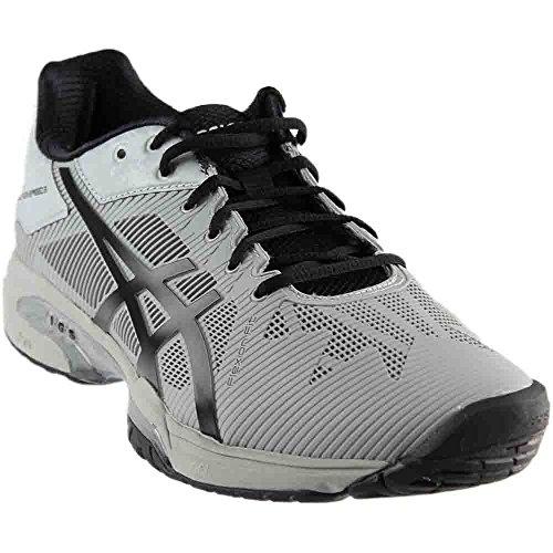 ASICS Mens Gel-Solution Speed 3 Sneaker, Mid Grey/Black, Size 10