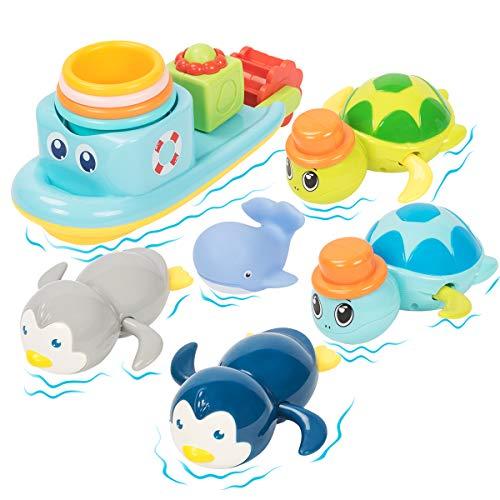 UNIH Bath Toys for 1-5 Year Old Boy Girls Gifts Swim Pool Bath Toys, Fun Baby Bathtub Toy for Toddler , for Baby Boy…